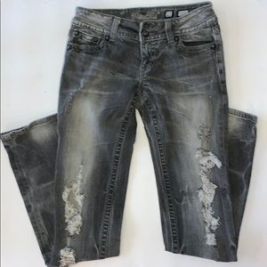 Miss Me 27 Skinny Black distressed Jeans